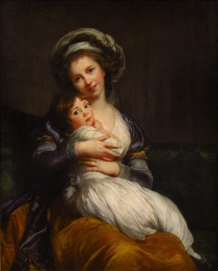 Elisabeth-Louise Vigée le Brun, Self-Portrait with daughter, 1786
